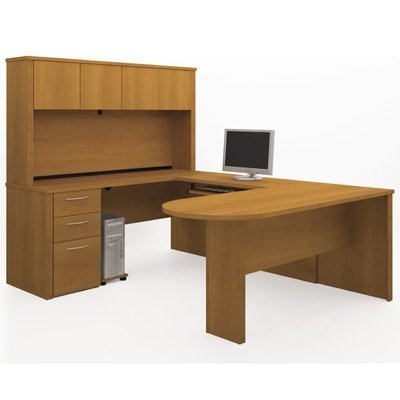 Embassy Executive Desks With hutch In Cappuccino Cherry By Bestar