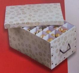 mq aufbewahrungsbox organizer kiste box f r weihnachtskugeln aufbewahrung kugeln gold gemustert. Black Bedroom Furniture Sets. Home Design Ideas
