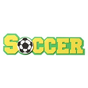 Amazon.com: 2 Foam Soccer Word Shapes: Toys & Games