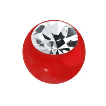 6mm Red Gem Acrylic Replacement Ball