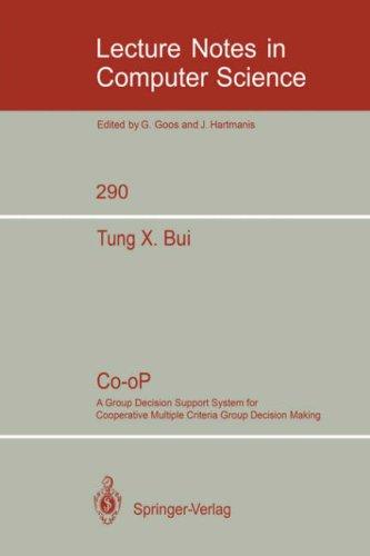 Co-oP.. cooperative multiple criteria decision making