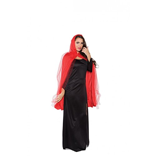 Ghost Adult Costume 3/4 Tattered Red Cape