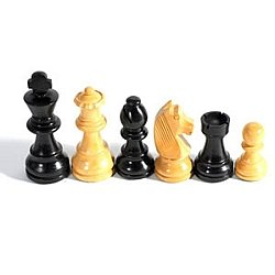 Staunton Black Stained Kari Chessmen