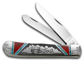 CASE XX DAVID YELLOWHORSE Custom Covered Wagon Trapper 1/4 Pocket Knife Knives