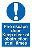 Fire escape door keep clear of obstruction at all times - Mandatory Sign