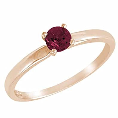 Ryan Jonathan Solitaire Ruby Ring in 14K White Gold (4.5 mm)