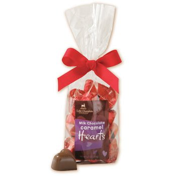 Milk Chocolate Caramel Hearts Gift Bag