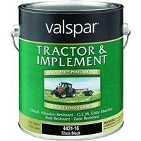 Valspar 4431-16 Gloss Black Tractor and Implement Paint - 1 Gallon