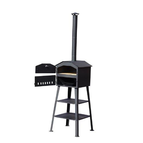Outsunny - BBQ Barbecue forno per pizza grill smoker piastra in pietra 60 x 54 x 199cm