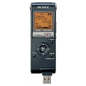 New- SONY ICDUX512BLK 2 GB DIGITAL VOICE RECORDER WITH SLIDING USB (BLACK)