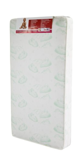 Dream On Me 96 Coil Spring Crib and Toddler Bed Mattress, Bliss, 6""