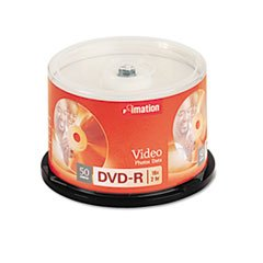 ** DVD-R Discs, 4.7GB, 16x, Spindle, Silver, 50/Pack **
