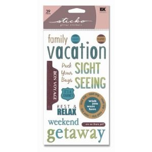 CLASSIC GLITTER STIX VACATION Papercraft, Scrapbooking (Source Book)