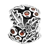 Lovelinks by Aagaard Sterling Silver Holly Bead For Charm Bracelets