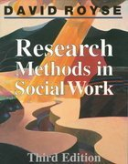 Research Methods in Social Work by Royse