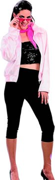 Ladies Womens Pink Lady Jacket & Trousers Fancy Dress Costume Size 10-14