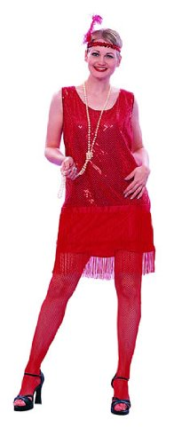 Adult Red Flapper Dress Costume