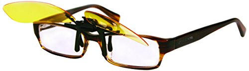 ''Night View Night Vision Clip On GLASSES, Yellow, One Size''