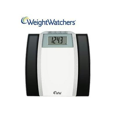 Cheap WeightWatchers WW78 Glass Body Fat Scale Black and Chrome 400 LB Capacity (WW78)