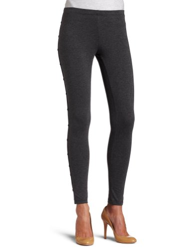 Steve Madden Legwear Womens Side Button Leggings