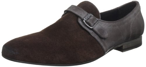 Vicini Men's Invel Brown Slip-Ons 8 UK