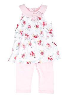 Imagen de Poesía infantil Túnica Floral Ruffle Bouquet y Set Legging (0/3M)
