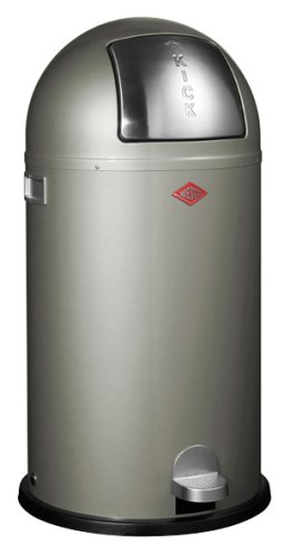 Wesco Kickmaster 33 Liter Zilver.Wesco Kickboy Waste Can 10 6 Gallon Silver Check Price