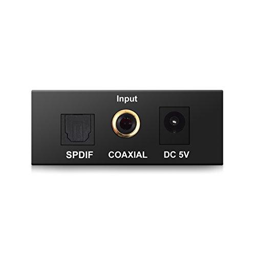 esynic dac convertisseur audio num rique vers analogique toslink coaxial optique vers rca l r. Black Bedroom Furniture Sets. Home Design Ideas