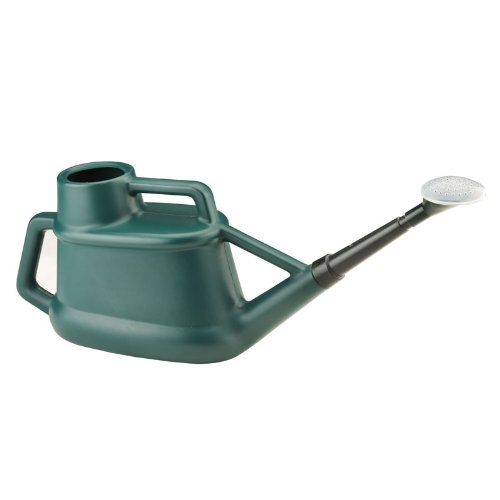 7L Litre Long Reach Watering Can With Rose Strong Plastic Green