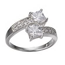 buy Pixel Jewelry 1985 - 3.0/Ct W.T White Sapphire Zircon Engagement Ring Size5 Womens 10Kt Filled Gold