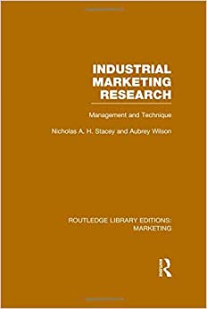 Routledge Library Editions: Marketing (27 Vols): Industrial Marketing Research (RLE Marketing): Management And Technique