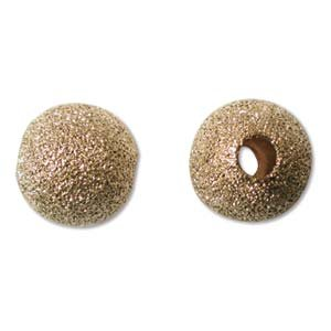 10mm Gold Plated Stardust Sparkle Round Beads (25)