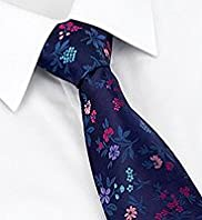 Sartorial Pure Silk Floral Print Oxford Tie