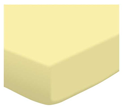 SheetWorld Fitted Pack N Play (Graco Square Playard) Sheet - Soft Yellow Jersey Knit - Made In USA - 1