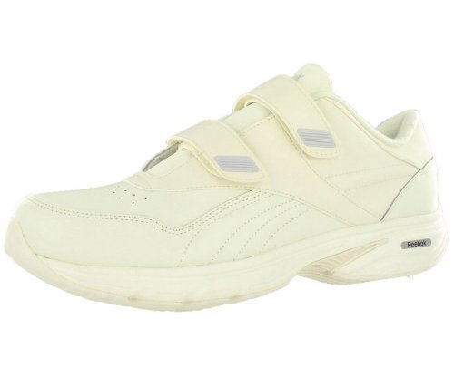 38709a06083341 Men s Reebok Velcro DMX MAX Walking Casual Sneakers VIP White A Light Bone  Color (14)