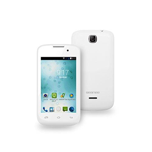 geanee FXC-35 SIM�ե���ޡ��ȥե��� 2����å���� �ƥ���� (Android 4.4/3.5�����/�ǥ奢��SIM /ɸ��SIM/4GB/�ۥ磻��)