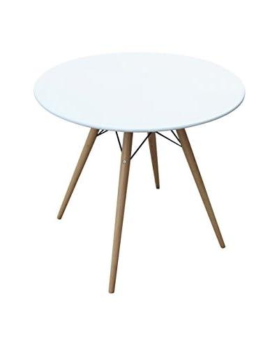 """Manhattan Living Woodleg 29"""" Dining Table, White"""