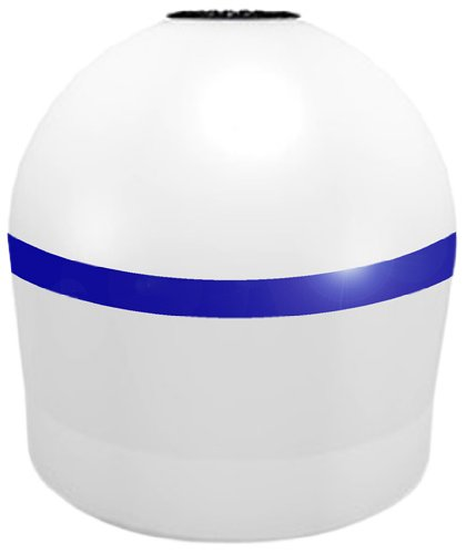 Connecticut Electric Al20Mor Aqua Buoy 20-Inch Solar Lighted Mooring Buoy, White With Blue Stripe