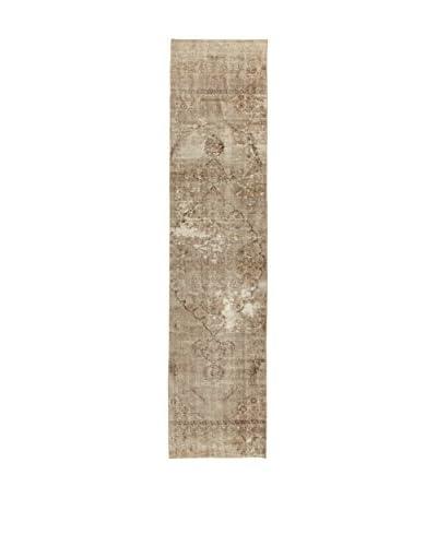 Design By Gemeenschap Loomier Carpet Anatolische Vintage modder bruin 90 x 388 cm