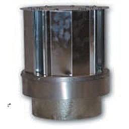 Comfort Flame VKG-58 Direct-Vent Ground Floor Fireplace Vent Kit, Galvanized