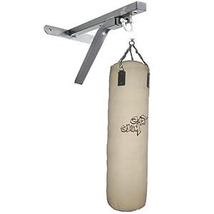 GAT POWER 120 cm Natural Boxsack beige aus Canvas mit Boxsack Wandhalterung, Stahlkette und Drehwirbel BWP13bn