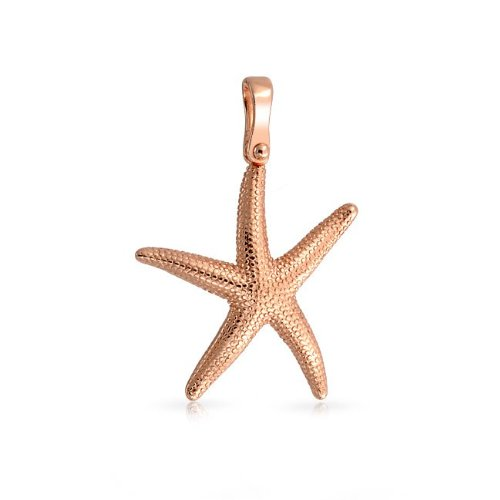 Bling Jewelry Nautical Happy Starfish Pendant Rose Gold Vermeil 925 Silver
