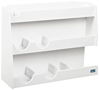 """TrippNT 50138 White PVC Plastic Bench Top Workstation, 16 Compartments, Medium, 16"""" Width x 12"""" Height x 7"""" Depth"""