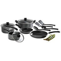 WearEver A875SC64 Grey 12 piece Nonstick Cookware Set.