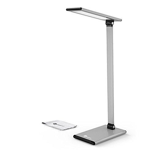 TaoTronics-LED-Metall-Schreibtischlampe-8W-Tischlampe-aus-Aluminiumlegierung-blendfreie-Tageslichtlampen-berhrungsempfindlich-mehrere-Farbtemperaturen-2700-6500-K-verstellbarer-Arm-Vibrationsalarm-Mer