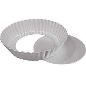Fat Daddio's Fluted Tart Pan 10 Inch x 2 Inch Removable Bottom by Fat Daddios