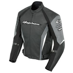 Joe Rocket Suzuki Busa 2.0 Leather Jacket - 48/Black/Gunmetal/White