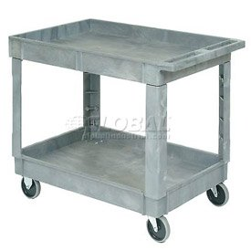 40 X 26 Plastic 2 Shelf Tray Service & Utility Cart