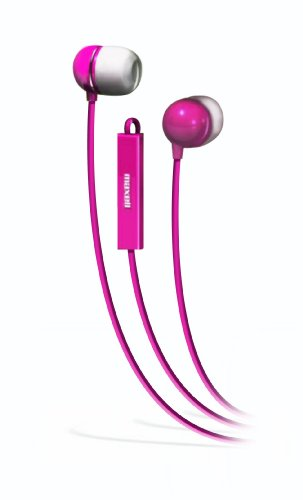 Maxell 190304 - Iemicpnk Stereo In-Ear Earbuds With Microphone (Pink)