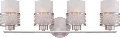 Nuvo Lighting 60/4684 Fusion Brushed Nickel Four Light Vanity